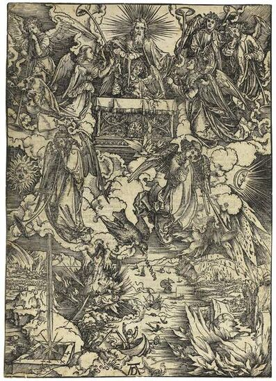 Albrecht Dürer, 'Die sieben Posaunenengel (The Seven Angels with Trumpets)', 1498