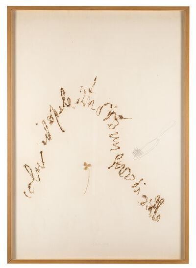 Pier Paolo Calzolari, 'Untitled (Colui il quale ritrovò un ferro di cavallo)', 1970