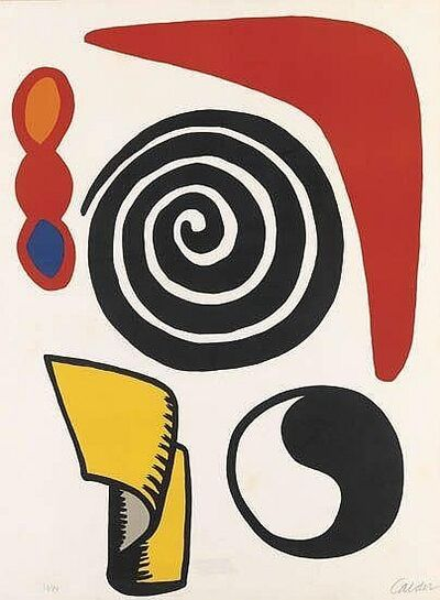 Alexander Calder, 'Yin Yang, Spiral & Red Boom Bang', 1970