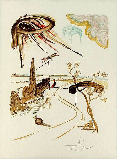 Salvador Dalí, 'Fantastic Voyage Lithograph on Paper Contemporary Art', 1980