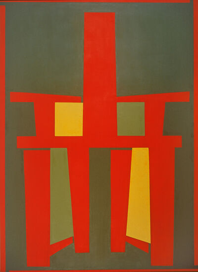 Mao Xuhui 毛旭辉, 'Red Back-chair with a Green Background', 2008