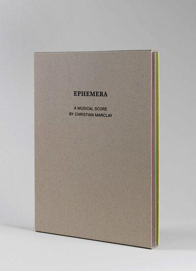Christian Marclay, 'Ephemera', 2009