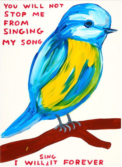 David Shrigley, 'You will not stop me from singing my song ', 2021