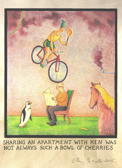 Glen Baxter, 'Sharing an apartment with Ken was not always such a bowl of cherries', 2005
