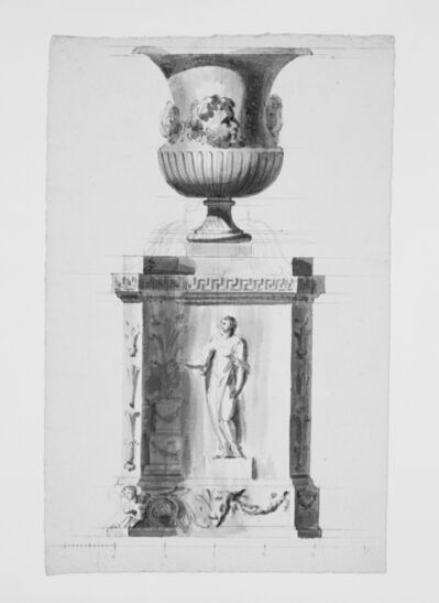 Antonio Asprucci, '[Bacchic crater on an ancient altar]', 1775-1820