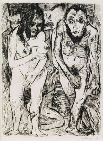 Max Beckmann, 'Adam and Eve', 1917