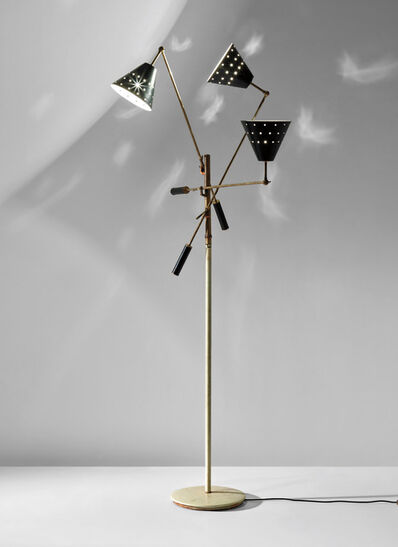 Angelo Lelii, 'Rare 'Triennale' three-armed adjustable standard lamp, model no. 12128s'