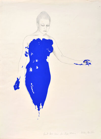 Antony Donaldson, 'Paint her blue for Yves Klein', 1983