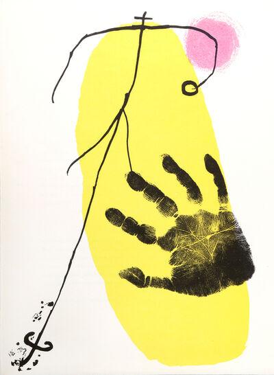 Joan Miró, 'Figura y Mano from Derrière le Miroir ', 1956