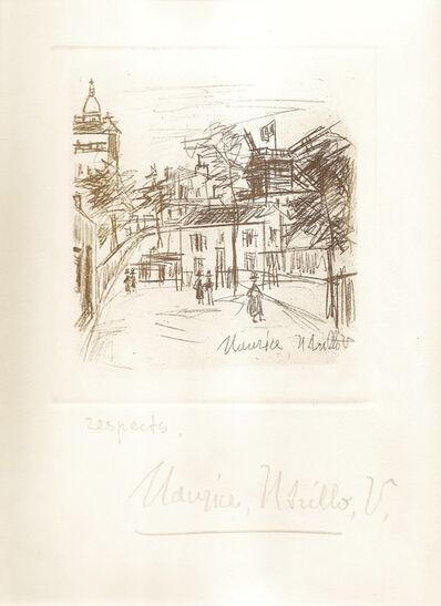 Maurice Utrillo, 'Amitiés de Montmartre', 1957