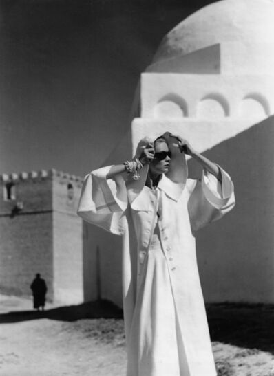 Louise Dahl-Wolfe, 'Natalie in Grès Coat, Kairouan', 1950