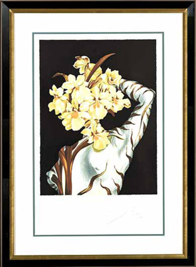 "Salvador Dalí, ' ""Surrealist Flower""   Hand Signed Salvador Dali Lithograph', 1941-1957"