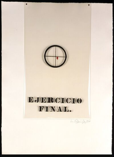 Luis Camnitzer, 'Ejercicio final from Gráfica Latinoamericana portfolio', 1970