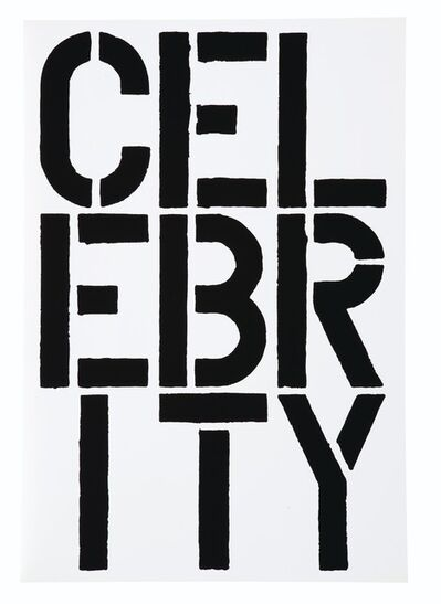 Christopher Wool, 'Celebrity (Black Book)', 1989