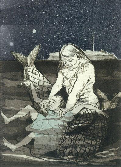 Paula Rego, 'Peter Pan: Mermaid Drowning Wendy', 1992