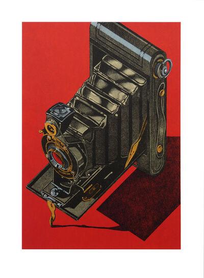 Robert Cottingham, 'HAWK-EYE (red)', 2014