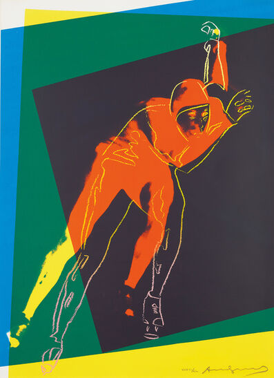 Andy Warhol, 'Speed Skater, from Art and Sports portfolio', 1983