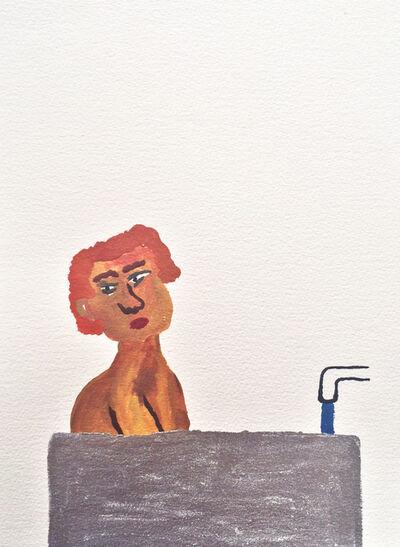 Sara Zielinski, 'Men in Bath 3', 2015