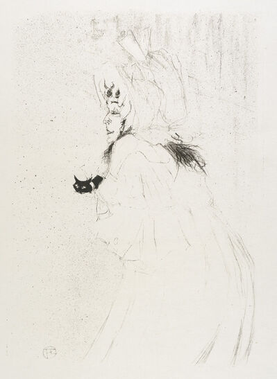 Henri de Toulouse-Lautrec, 'MISS MAY BELFORT SALUANT (Miss May Belfort Taking a Bow)', 1895