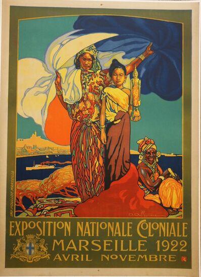 David Dellepiane, 'Poster for the 1922 Marseille Colonial Show by D. Dellepiane, Art Deco, France', 1921