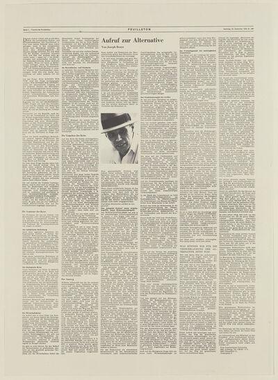 Joseph Beuys, 'Aufruf zur Alternative', 1978