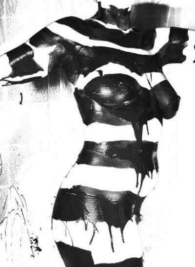 Tamara James, 'Striped Frontal ', 2010
