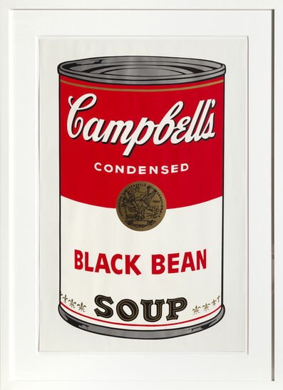 Andy Warhol, 'Black Bean from Campbells Soup I', 1968
