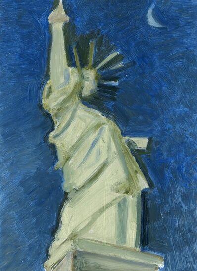Lois Dodd, 'Statue of Liberty + Moon', 2018