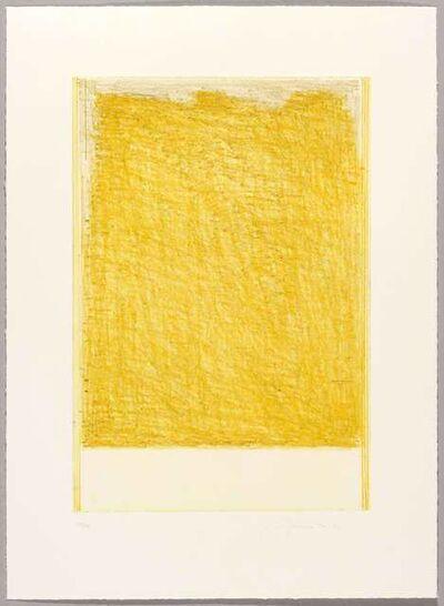 John Zurier, 'October 3 (Yellow)', 2017