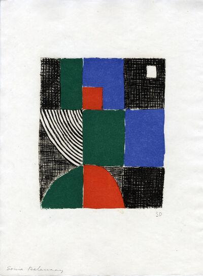 Sonia Delaunay, ' Juste présent planche 5', 1961