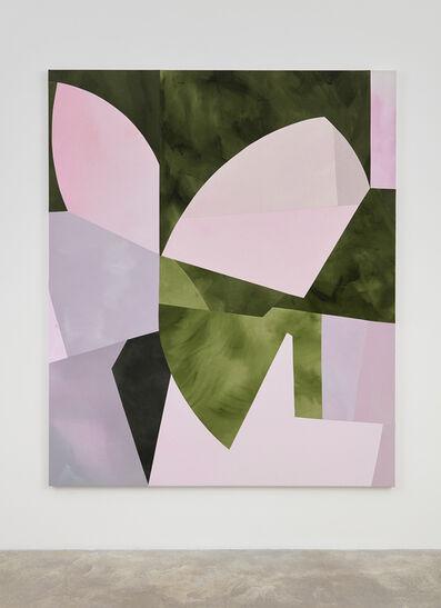 Sarah Crowner, 'Sliced Dusk (Lilacs, Greens)', 2018