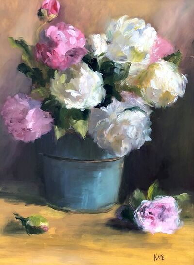 "Kate Faust, '""Peonies in Summer""', 2019"