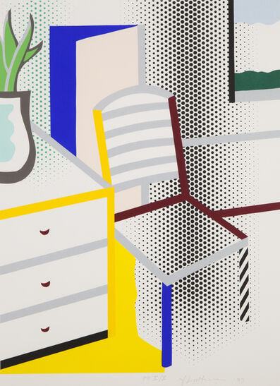 Roy Lichtenstein, 'Interior with Chair', 1997