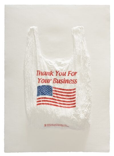Analía Saban, 'Thank You For Your Business Plastic Bag', 2016