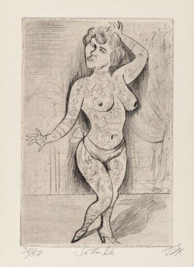 Otto Dix, 'Maud Arizona  (Suleika, The Tattooed Wonder)', 1922