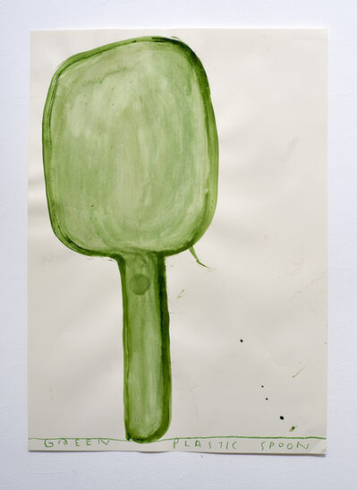 Rose Wylie, 'Transparent Plastic Green Spoon', 2016