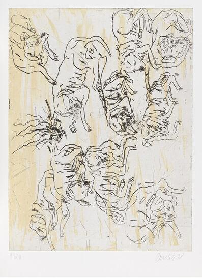 """Georg Baselitz, 'Schlafende Hunde I, from """"Schlafende Hunde""""', 1998-1999"""