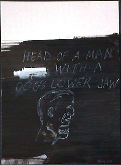 Leon Golub, 'Head of a Man With a Dog's Lower Jaw', 1999-2000