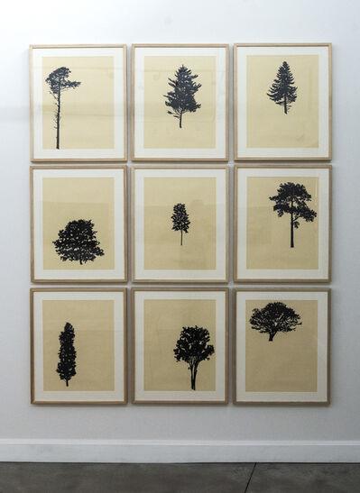 Peter Hoffer, 'Der Wald (portfolio of 9) 10/12', 2018