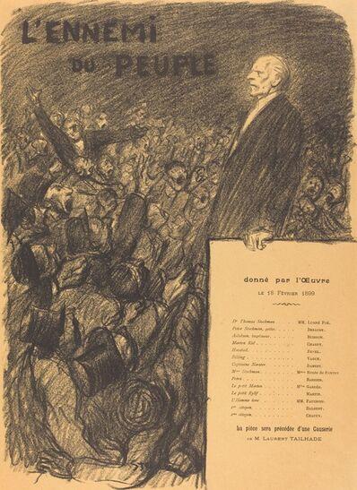 Théophile Alexandre Steinlen, 'L'Ennemi du peuple', 1899