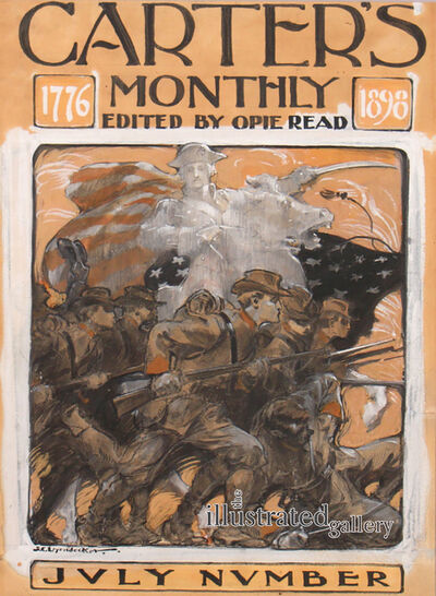 Joseph Christian Leyendecker, 'The Soldiers' Charge, Carter's Monthly Magazine Cover', 1898