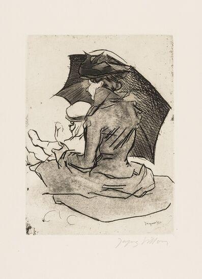 Jacques Villon, 'Croquis de Plage, Mère et Enfant (Ginstet/Pouillon 179)', 1907