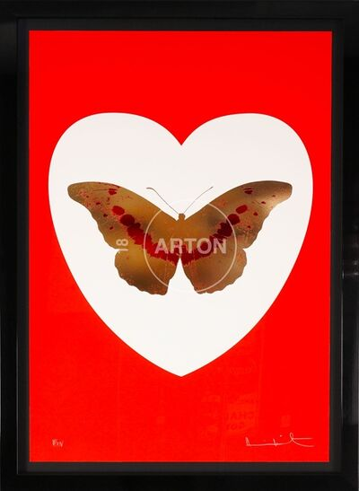 Damien Hirst, 'I Love You, Butterfly, Red, White, & Gold', 2015