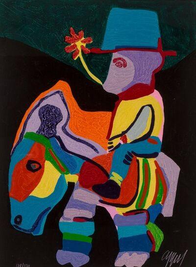 Karel Appel, 'L'Ane trop paisible pour les Enfants cruels, pl. 9, from Circus II', 1978