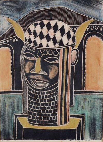 Buyo Ogundele, 'Benin Head', 1989