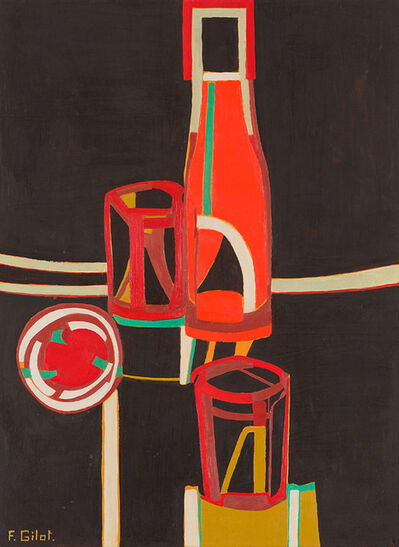 Françoise Gilot, 'Bottle and Glasses', 1975