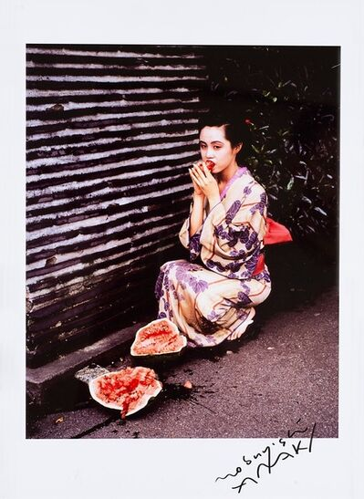 Nobuyoshi Araki, 'Geisha Girl with Watermelon', 1991