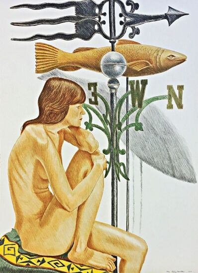 Philip Pearlstein, 'NUDE (DESIREE) WITH FISH, BANNER AND WEATHERVANE', 2010