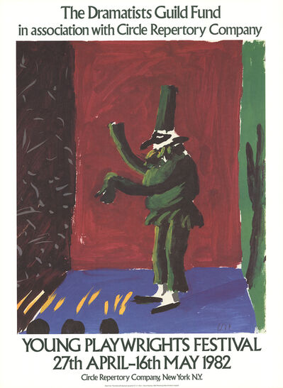 David Hockney, 'Detail from Pulcinella With Applause', 1982