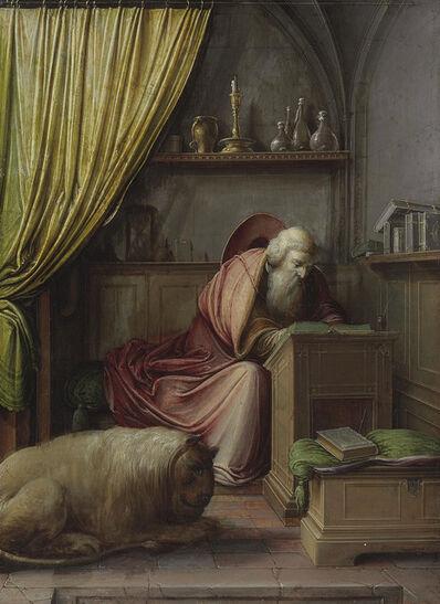 Hendrick van Steenwijk II, 'Saint Jerome in his study'